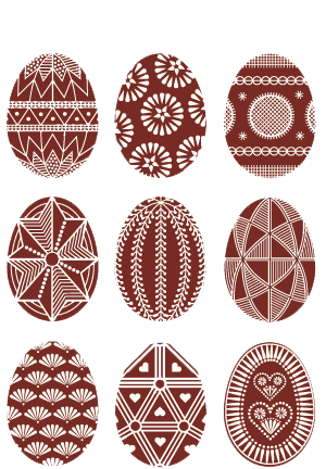 Pisanki: Polish decorated Easter eggs