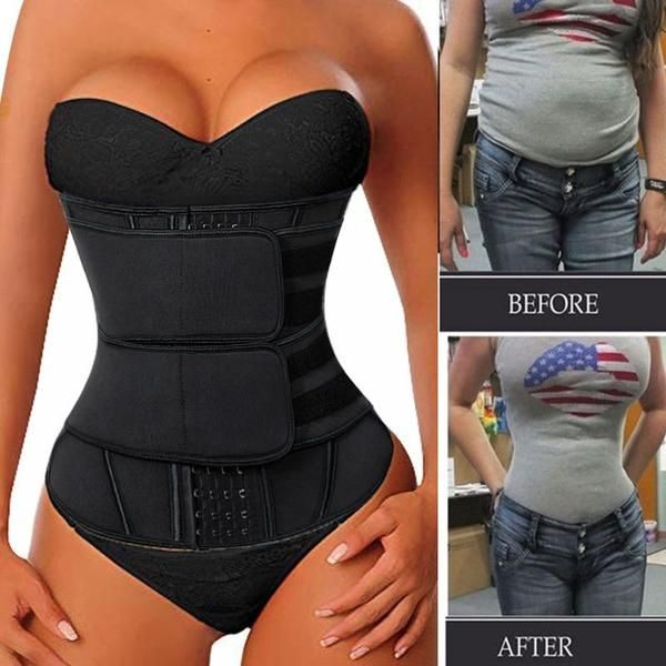 NSF Women Neoprene Sweat Waist Trainer Corset Trim