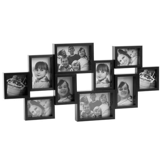 city 10 multi photo frame black - Multi Picture Frame