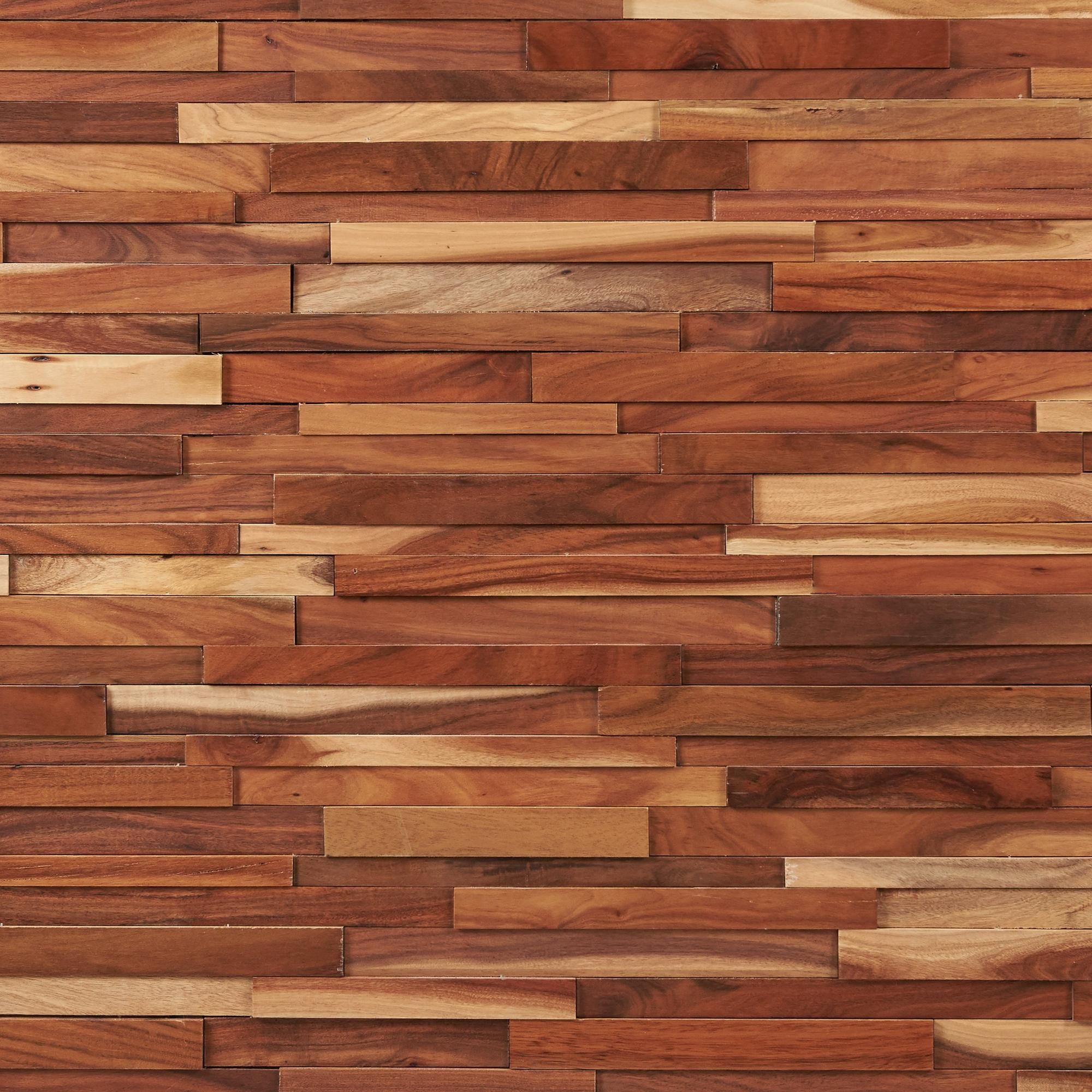 Dimensions Hardwood Small Leaf Acacia Wall Plank