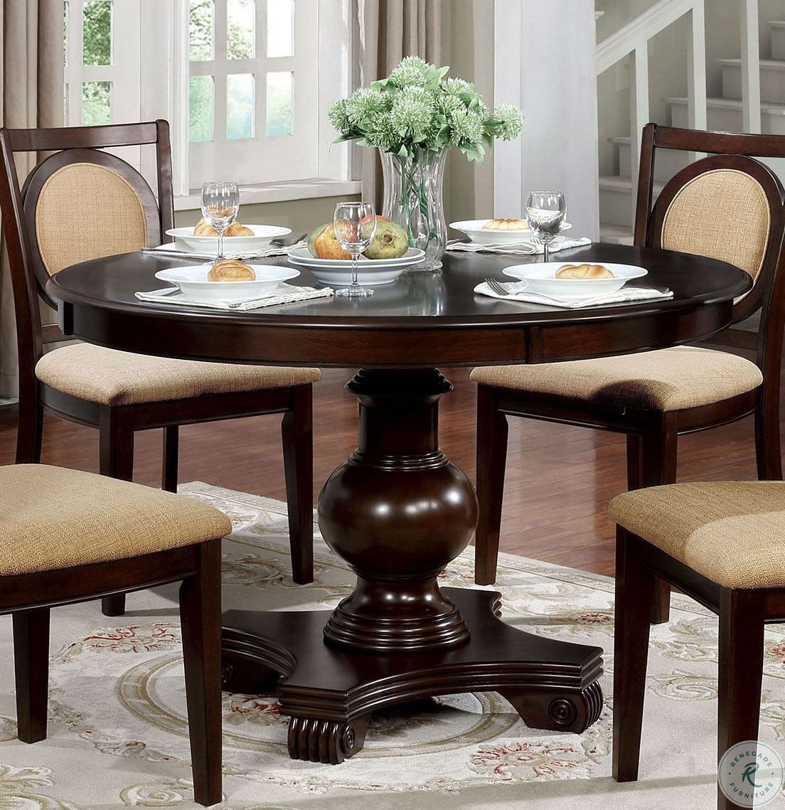 Savion Espresso Oval Extendable Dining Room Set In 2020 Dining Table In Kitchen Round Dining Oval Table Dining