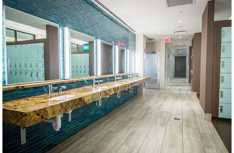 Premier Health + Fitness Center Locker Room Renovation #lockerroom #tallahassee #florida #gym #architecture #interiordesign