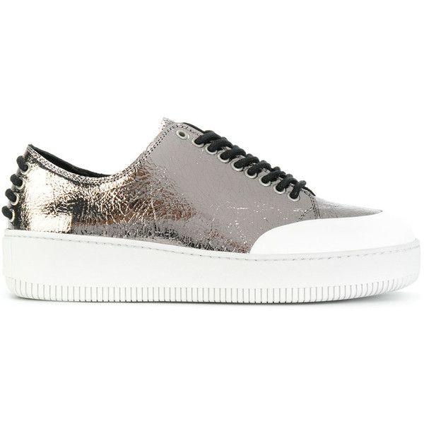 McQ Alexander McQueen Red & Biege Velour Goatskin Sneakers wcmpArcy