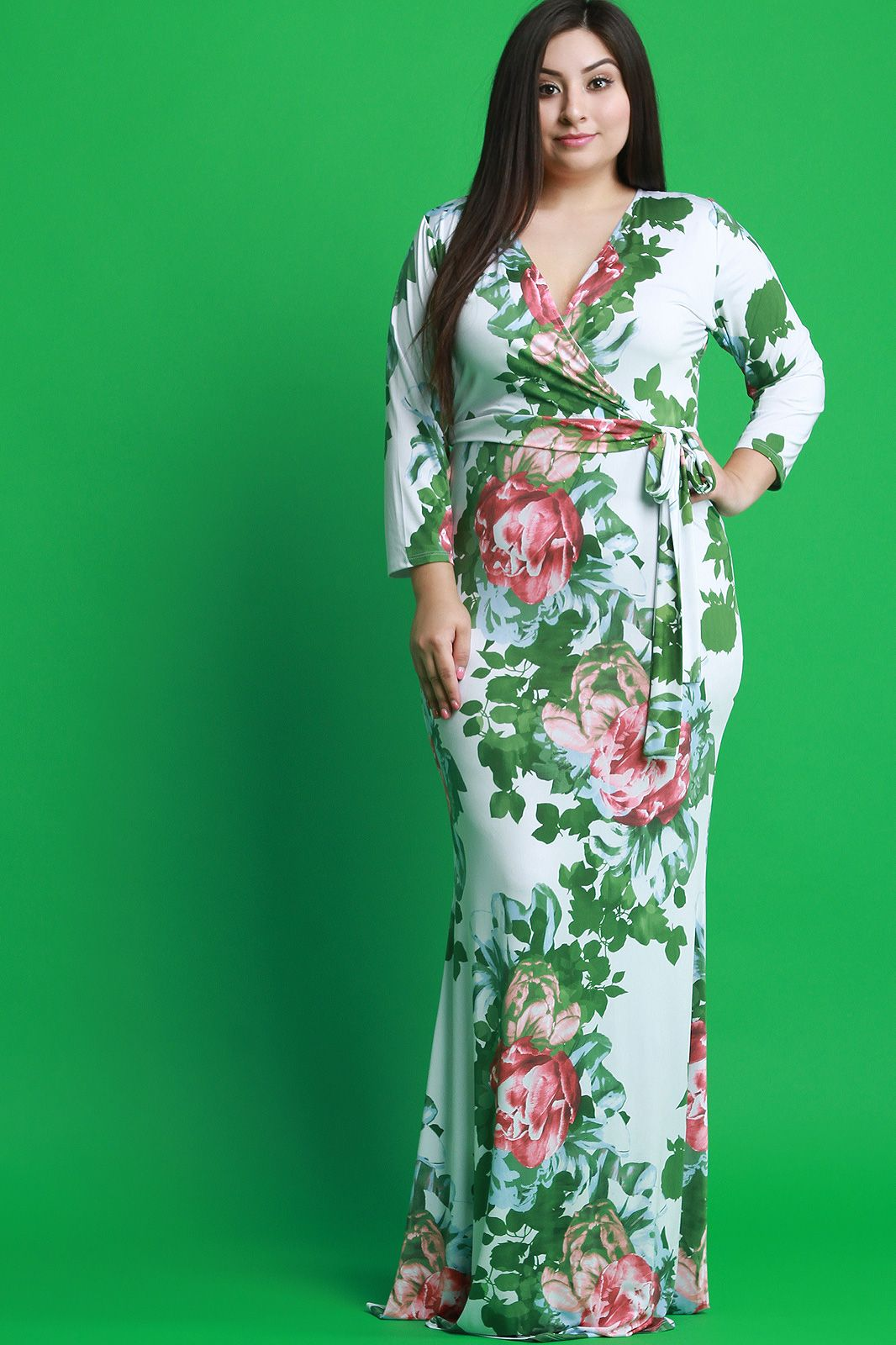 Free Sh Easy Returns Shop This Dress Features A Stretchy Knit With Floral Pattern Print Surplice V Ne Maxi Dress Long Sleeve Maxi Dress Maxi Dress Cocktail [ 1600 x 1066 Pixel ]