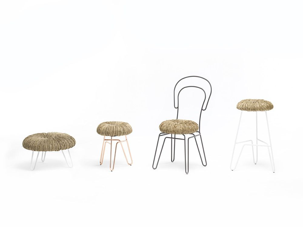 Donut by mogg chair. sedia. cm l41.5 x w48 x h88 stool. sgabello