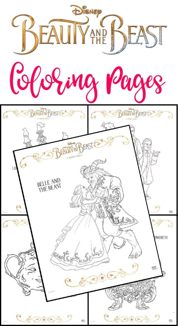 beauty and the beast coloring pages free Free Printable BEAUTY AND THE BEAST Coloring Pages | Everything  beauty and the beast coloring pages free