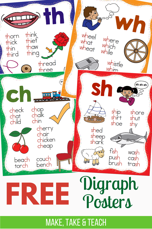 Free Consonant Digraphs Posters Make Take Teach Teaching Phonics Teaching Digraphs Phonics Posters [ 1500 x 1000 Pixel ]