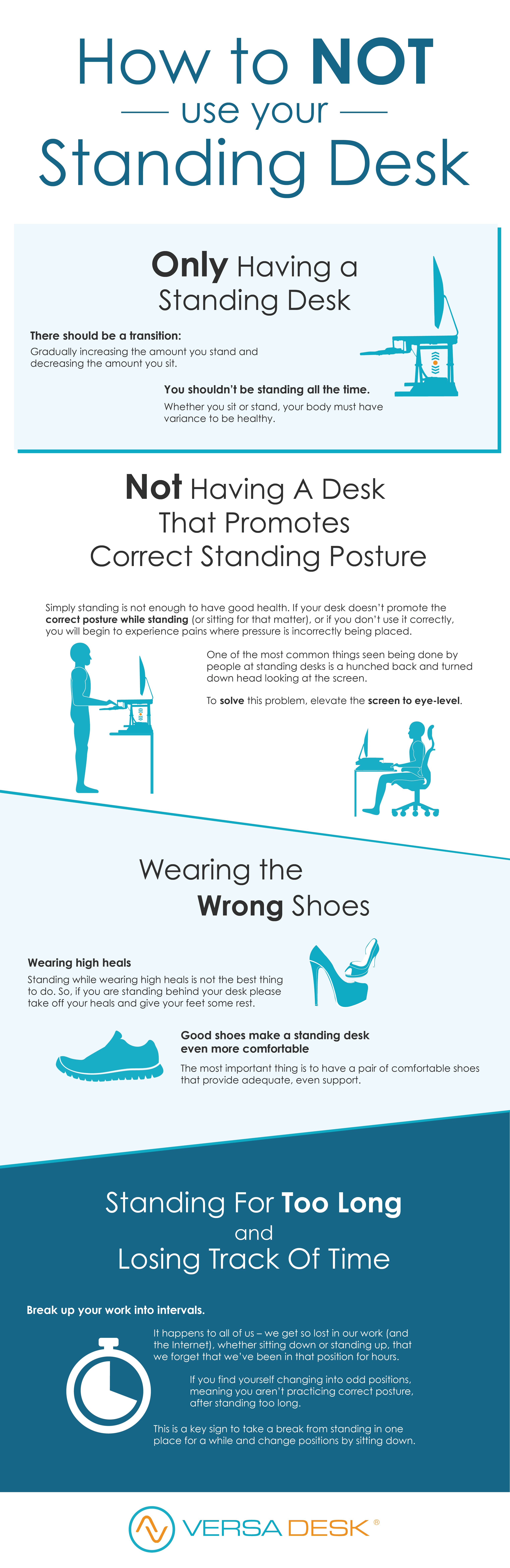 Desk Riser · Donu0027t Stand Improperly, Stand For Good Health! Check Out These  Tips On