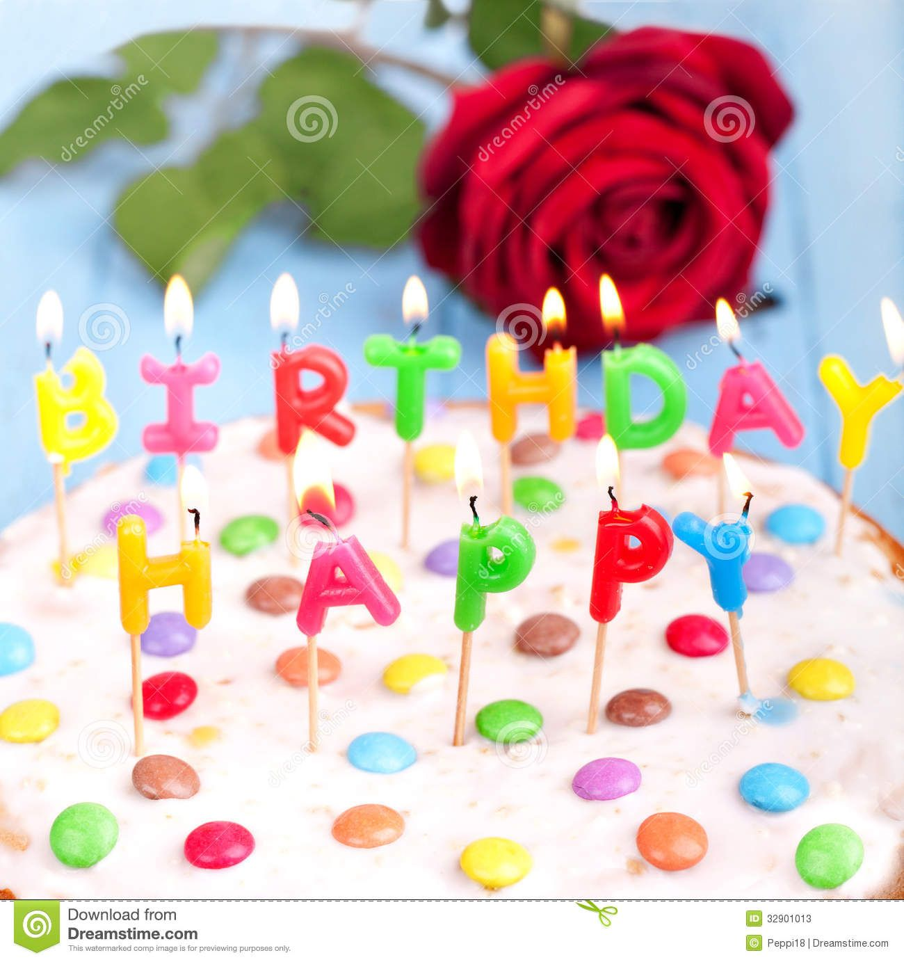 happy,birthday,cake,delicious,candles,red,rose