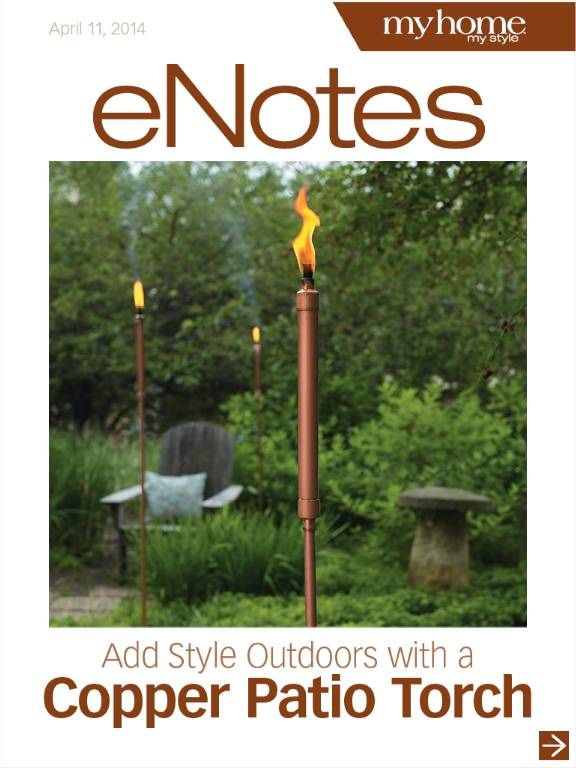 Make These Simple Copper Patio Tiki Torches Instructions At Http