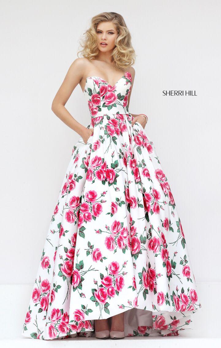 Perfecto Vestido De Baile De La Colina De Sherri Roja Festooning ...