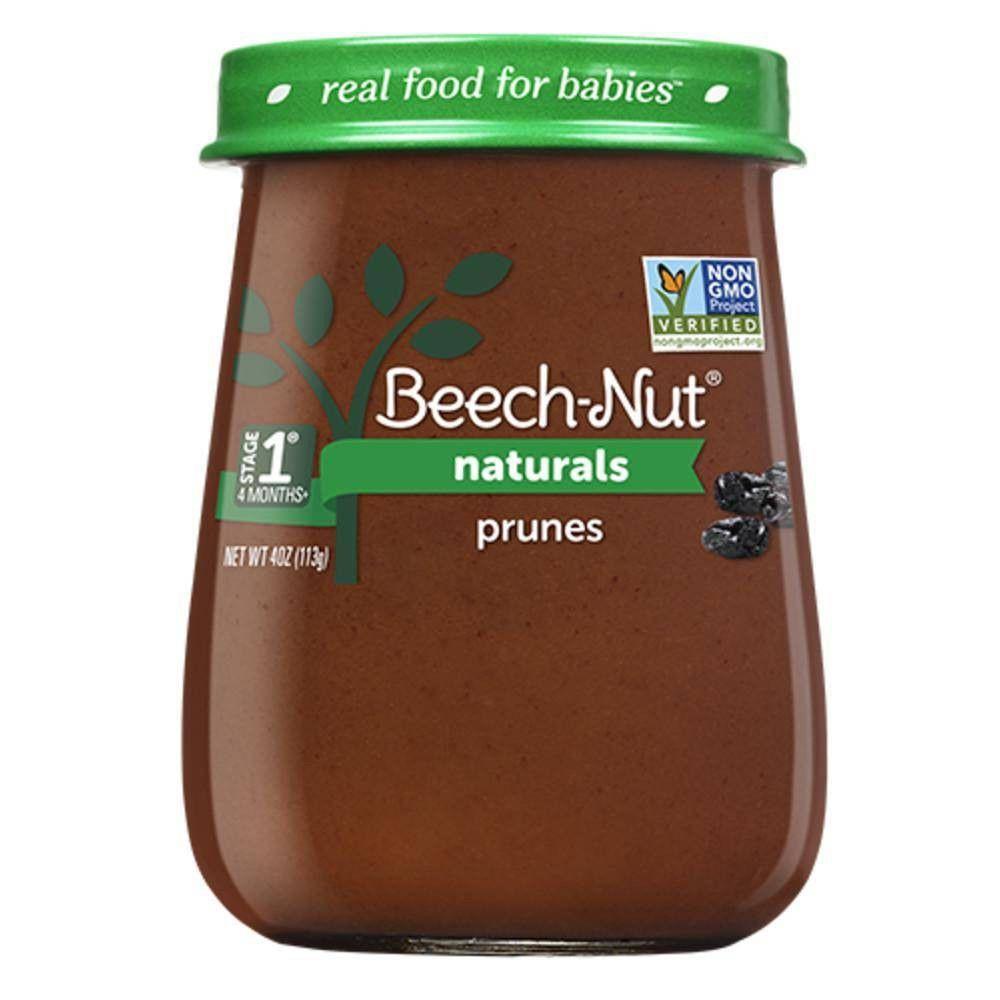 Beechnut naturals prunes baby food jar 4oz in 2020