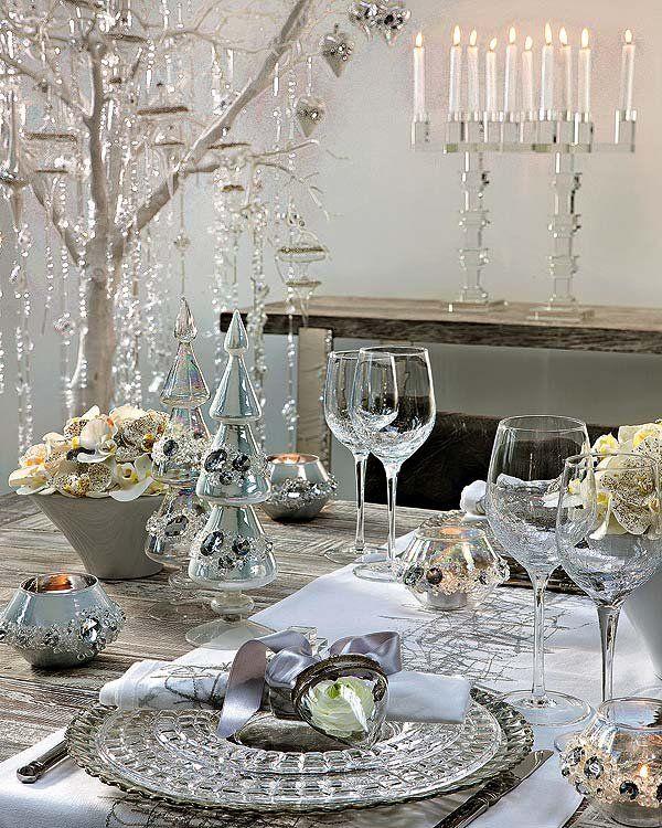 Centro de mesa con cristales destellos de navidad - Cristales para mesa ...