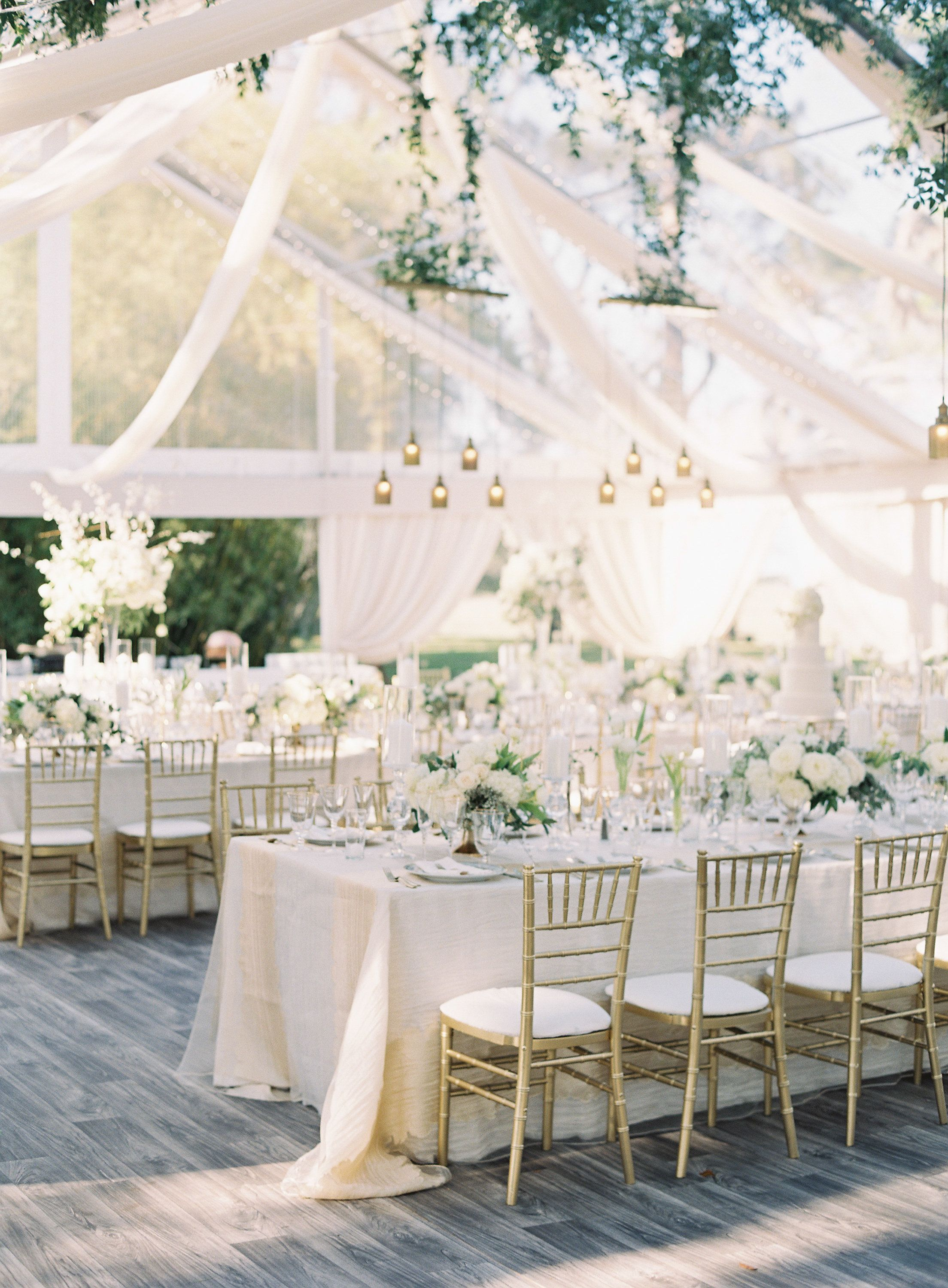 Wedding Reception Ideas For Gold White Ivory And Natural Green