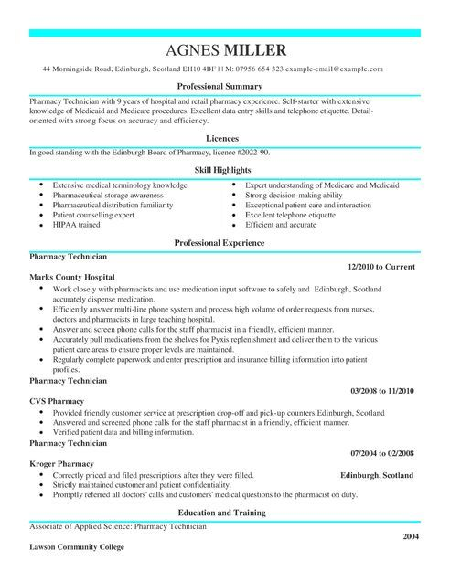11 Pharmacy Technician Resume 2016 | Riez Sample Resumes | Tempat