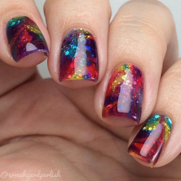 25 Sparkly nail art designs ideas | Nail Art | Pinterest | Sparkly ...
