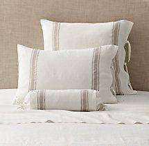 Belgian Linen Provence Stripe Bedding