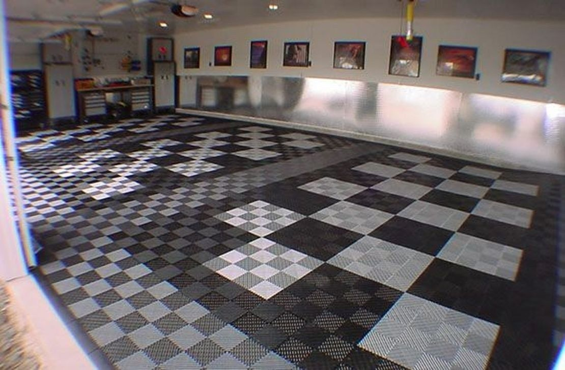 Pretty Garage Floor Design Ideas That You Can Try Your Home Tiles