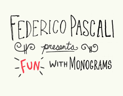 """Check out new work on my @Behance portfolio: """"Fun With Monograms - FP"""" http://be.net/gallery/33833906/Fun-With-Monograms-FP"""