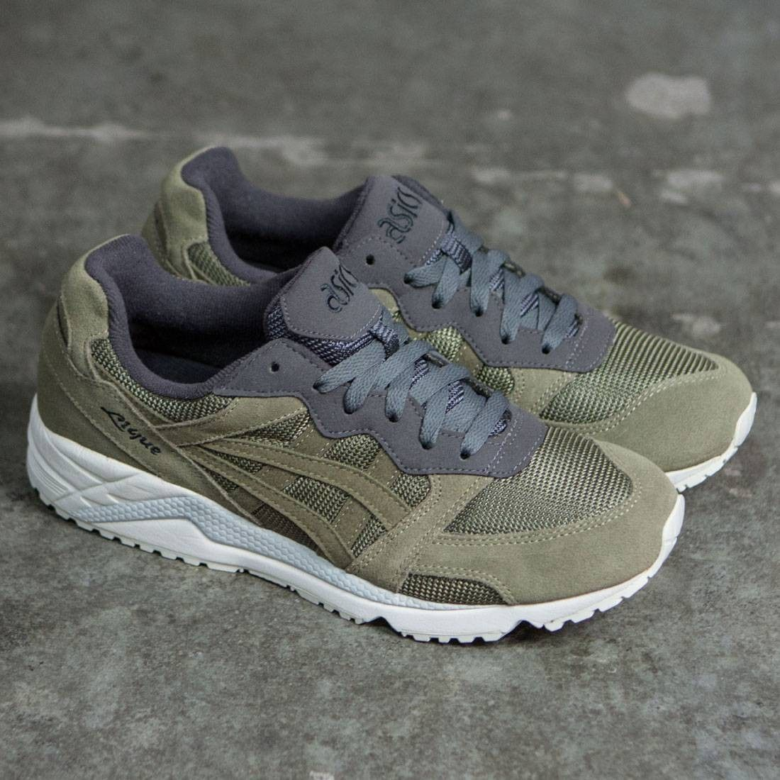 new product f128f 75c4c Asics Tiger Men Gel-Lique olive light olive