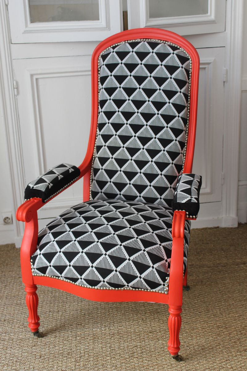 fauteuil voltaire r nov enti rement par design apr s tout en vente chez odivi morlaix. Black Bedroom Furniture Sets. Home Design Ideas