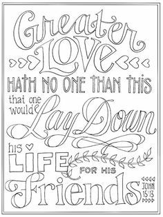 the ultimate sacrifice coloring page  bible verse