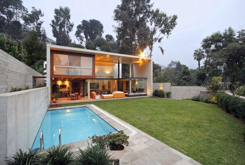 Modern Rectangular Shaped House Boasting An Elegantly Joyful Interior Architecture House Modern Architecture Modern House Design
