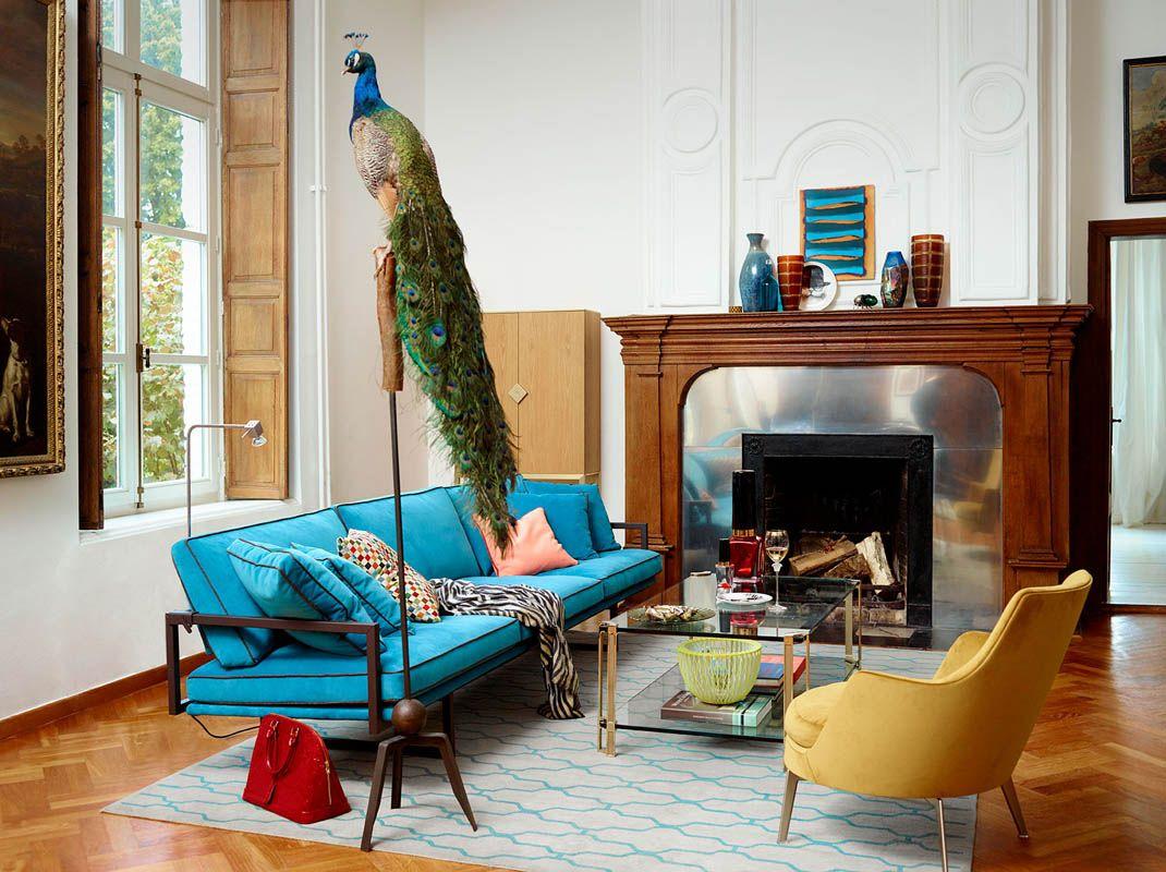 Woonkamer Felle Kleuren : Eclectic interieur design meubelen interieur felle kleuren