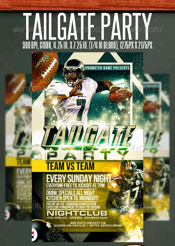 Tailgate Vs Flyer Template  Design Graphic    Flyer