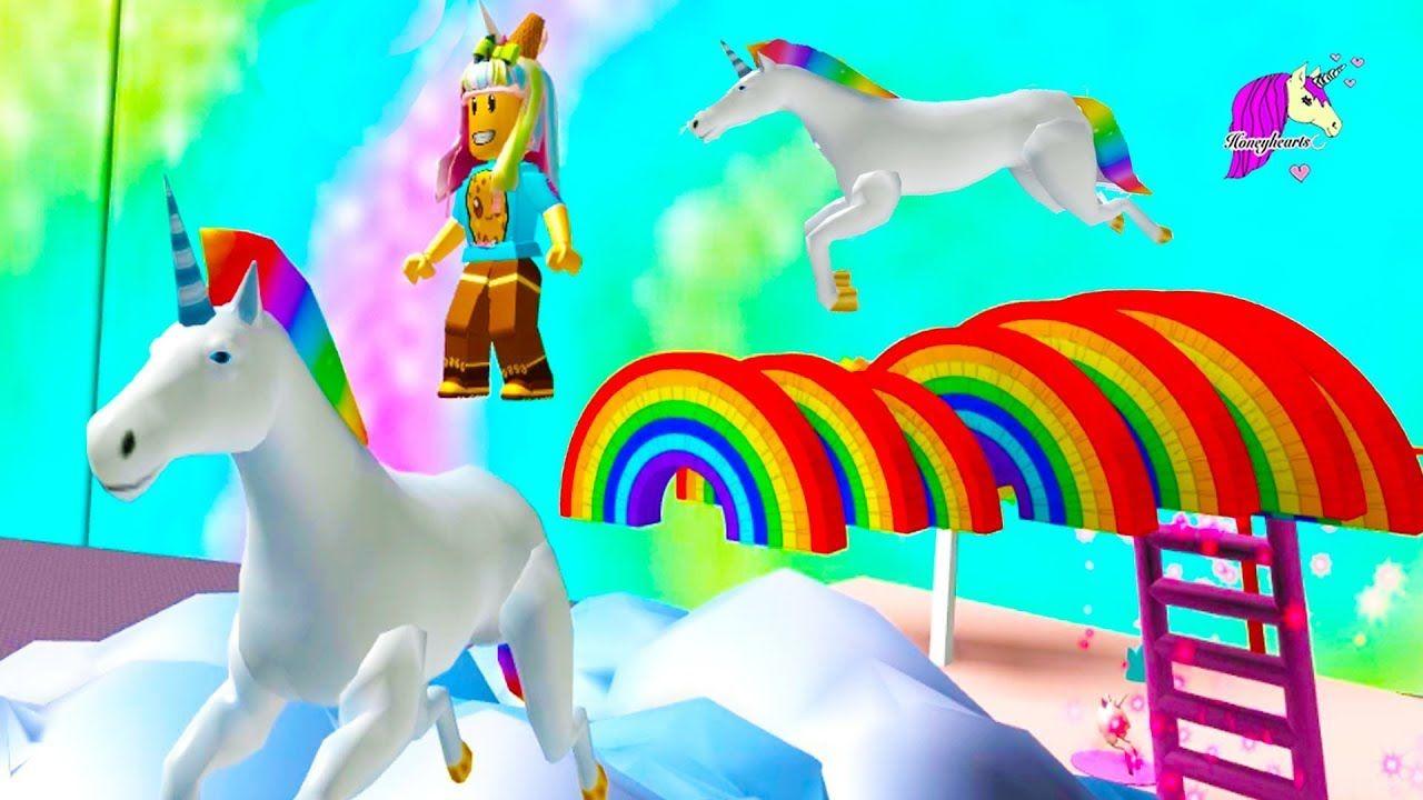 Rainbows Unicorns Random Roblox Games Honey Hearts C Video Rainbow Unicorn Roblox Play Horse
