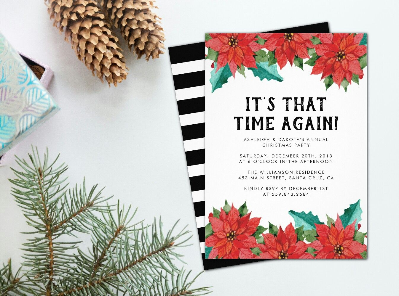 It\'s that time again! Watercolor poinsettia Christmas flowers ...