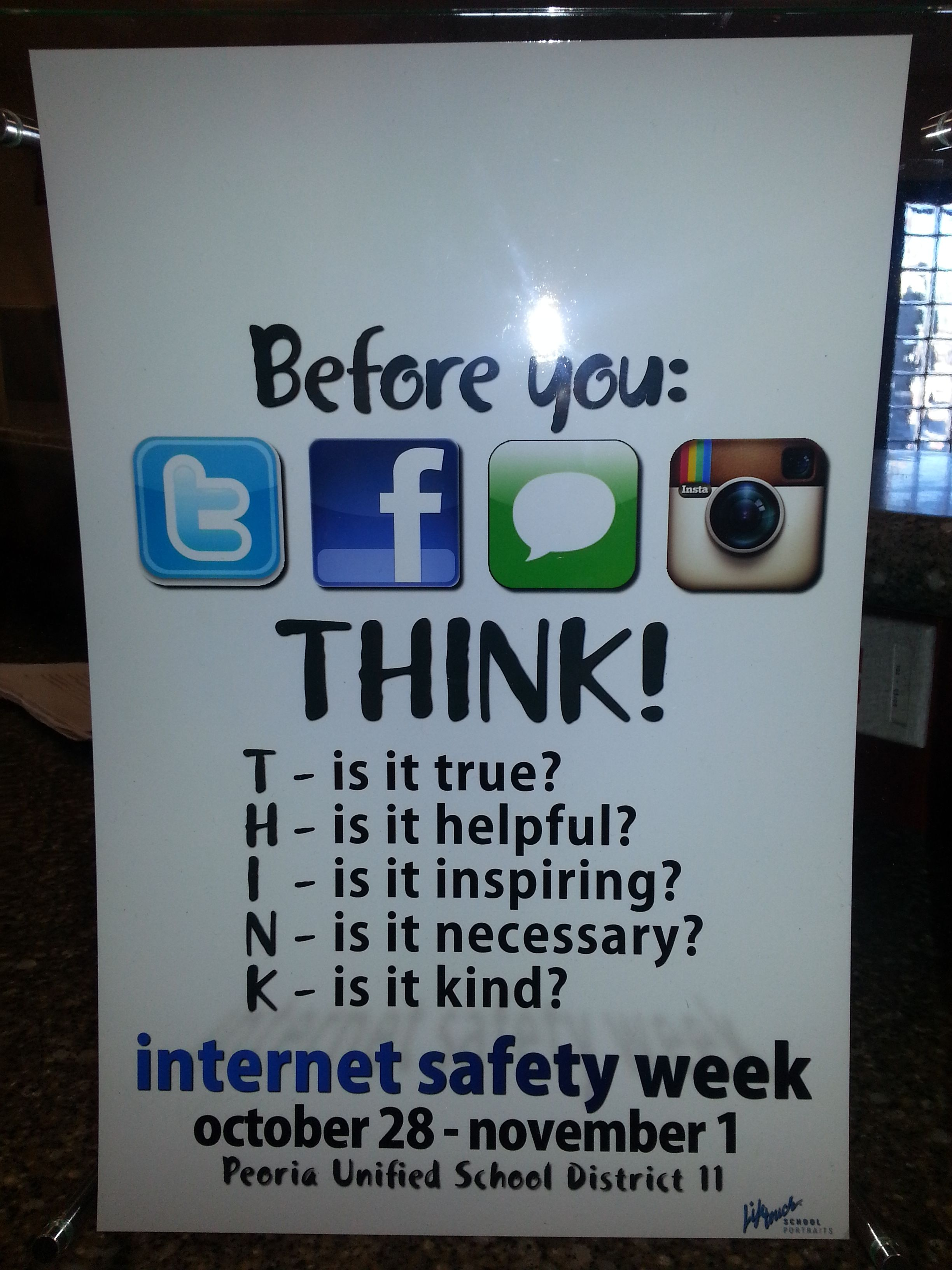 Student Internet Safety Week Work