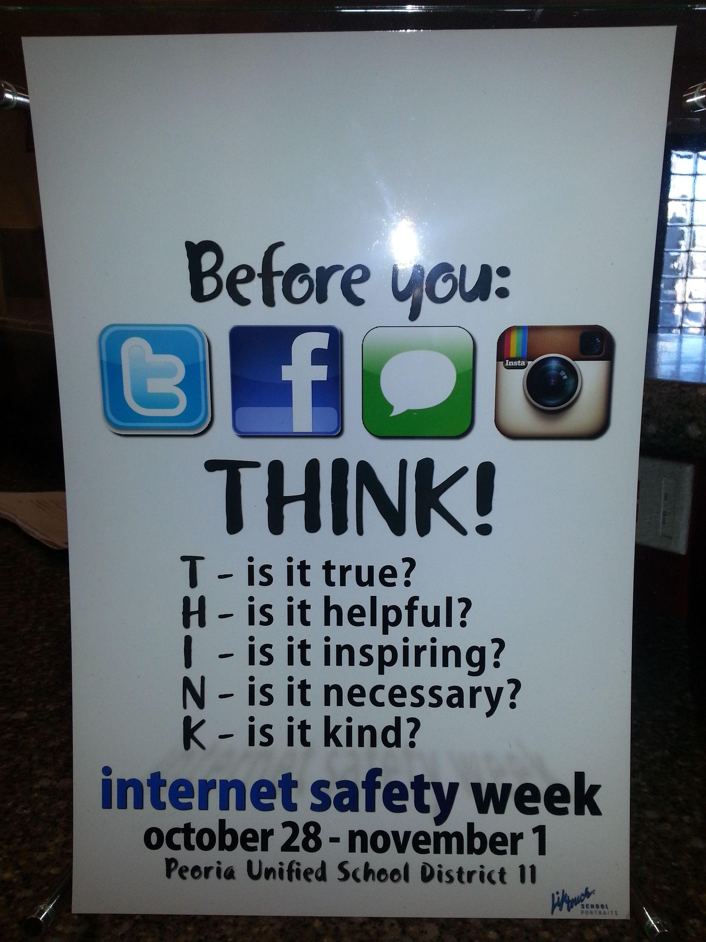 Student Internet Safety Week Work
