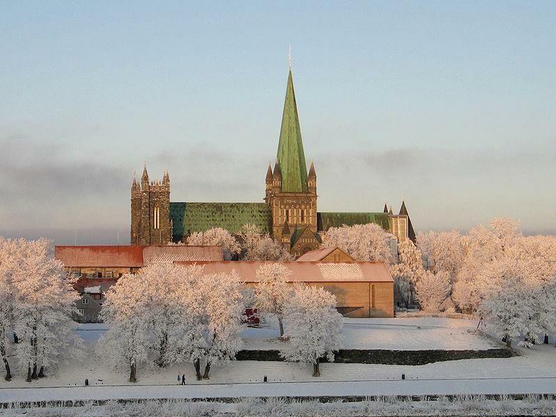 Trondheim Norway in Snow