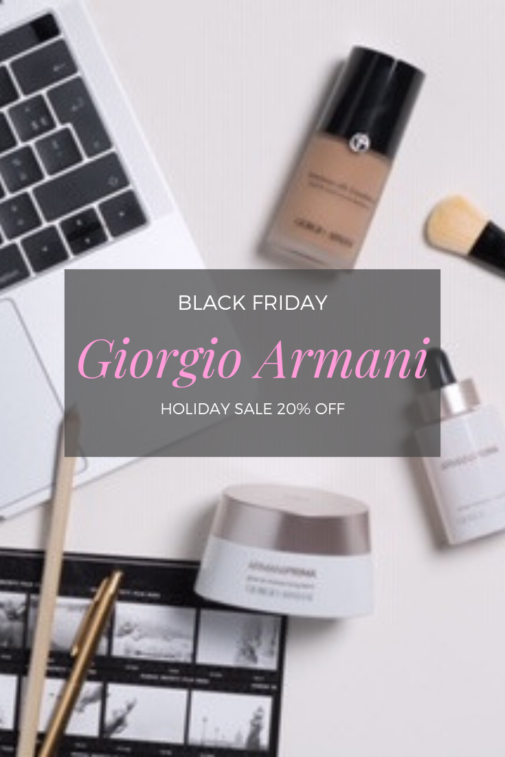 Armani's Black Friday sale is sure to help you