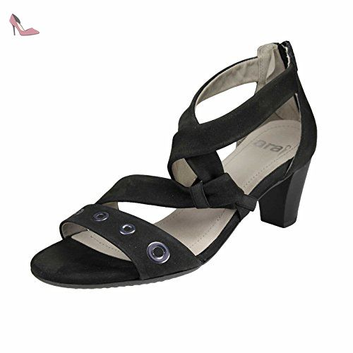 e080e76da ara 12-34665G femmes noir cuir Sandale, EU 42 - Chaussures ara ...