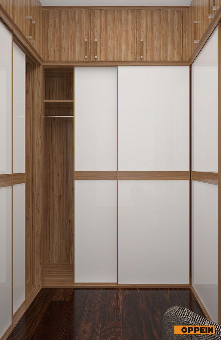 Walnut U Shaped Wardrobe With Sliding Doors Oppein Wardrobe Design