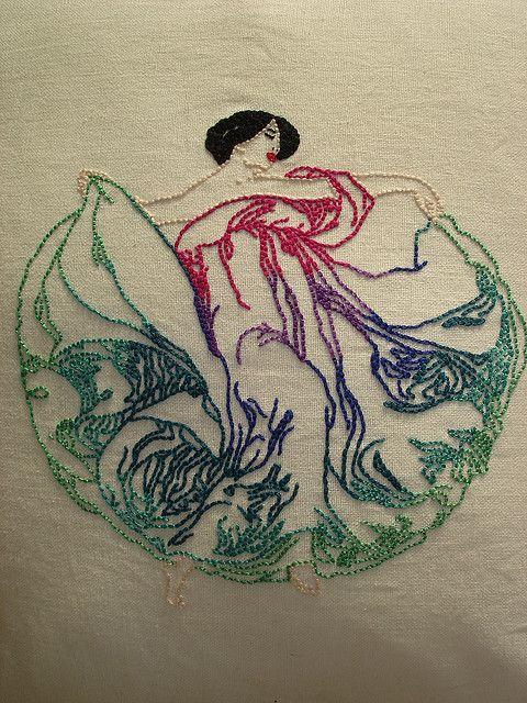 Art nouveau woman - Loie Fuller | Flickr - Photo Sharing!