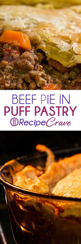 Beef Pie in Puff Pastry Recipe from RecipeCrave.com | Puff ...