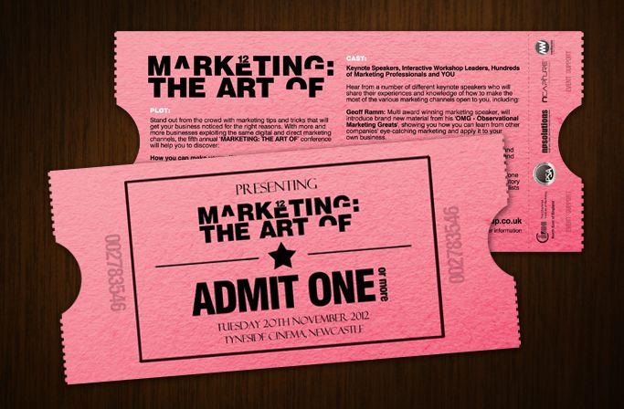 Markting The Art Of 12 - Cinema Ticket Event Flyer