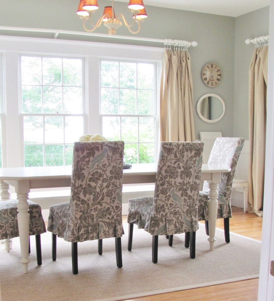 Summer Tour-Dining Room Reveal | Slipcovers for chairs ...
