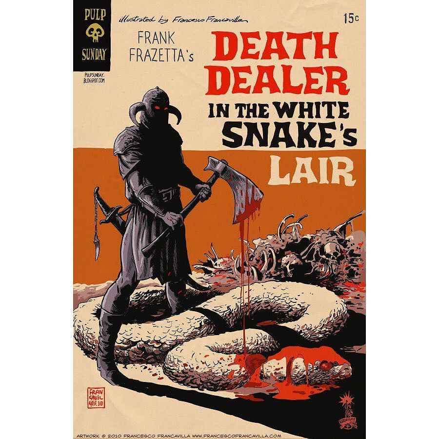 Love this #FrankFrazetta #DeathDealer homage to the old #GoldKeyComics of  the #SilverAge