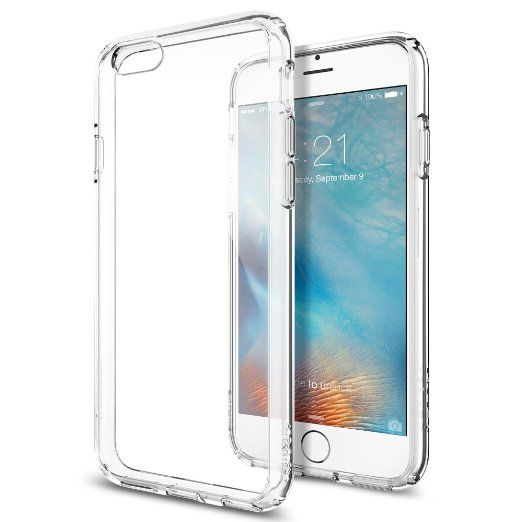 iPhone 6s Case, Spigen® [Ultra Hybrid] AIR CUSHION [Crystal Clear] Clear back panel + TPU bumper for iPhone 6 (2014) / 6s (2015) - Crystal Clear (SGP11598) #tech #spigen See detail at http://zingxoom.com/d/cwHHJ8iK
