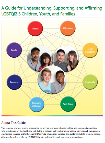 A Guide For Understanding Supporting And Affirming Lgbtqi2 S Children Youth And Families Hospital Social Work Work Health Social Work