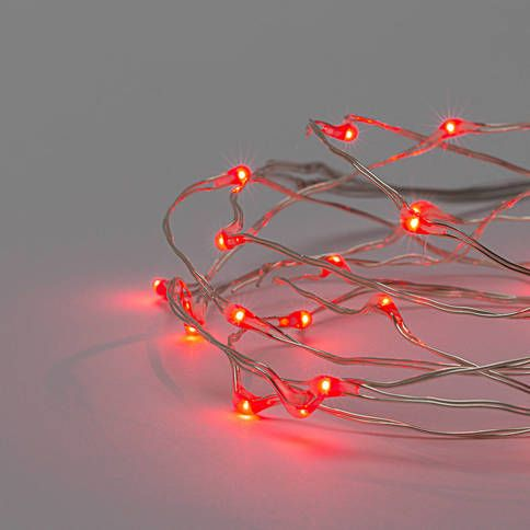Lights Lit Decor String Lights Copper Wire Red 30 Micro