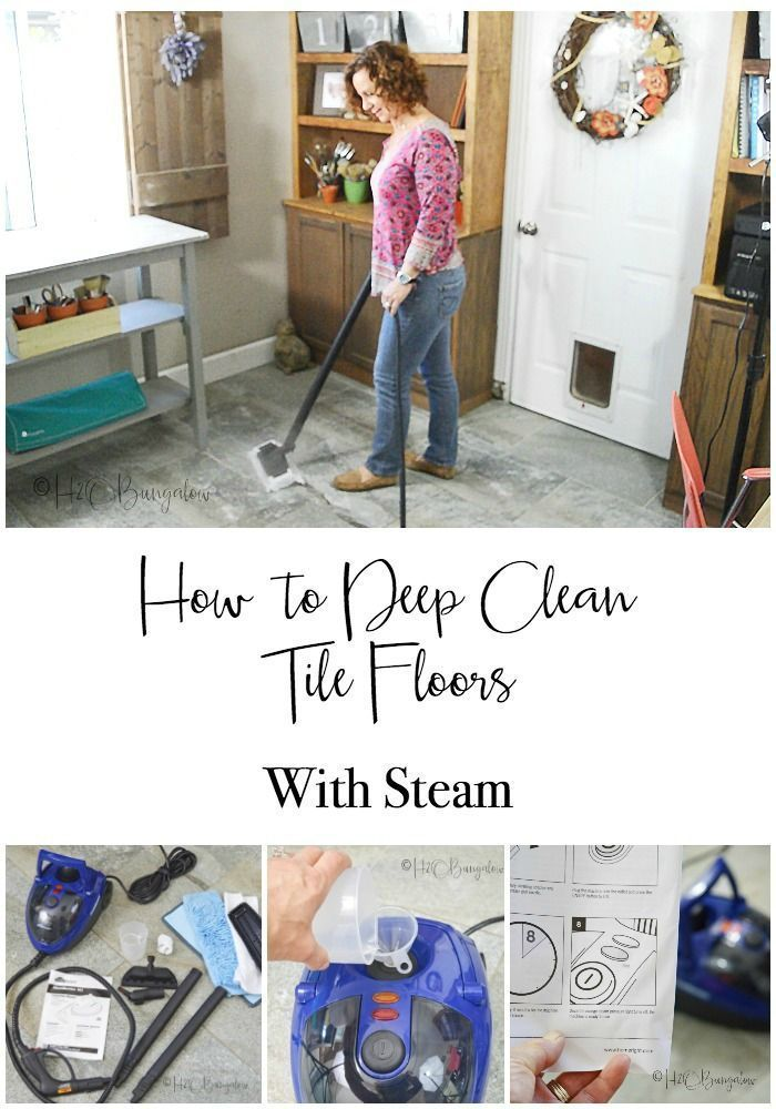 Deep Clean Tile Floors With Steam Craft Adventure