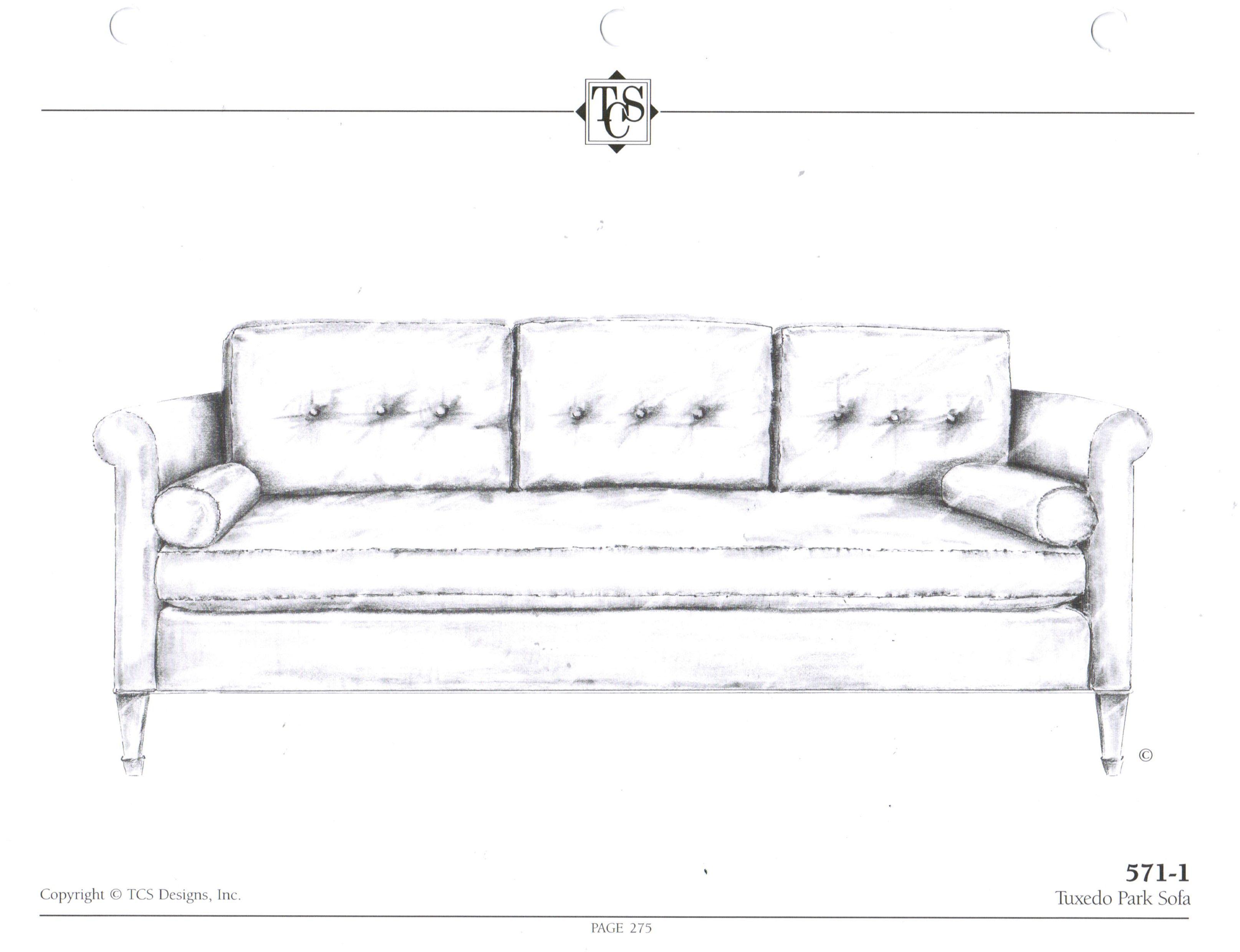 TCS - 571-1 Tuxedo Park Sofa Standard Size: 82