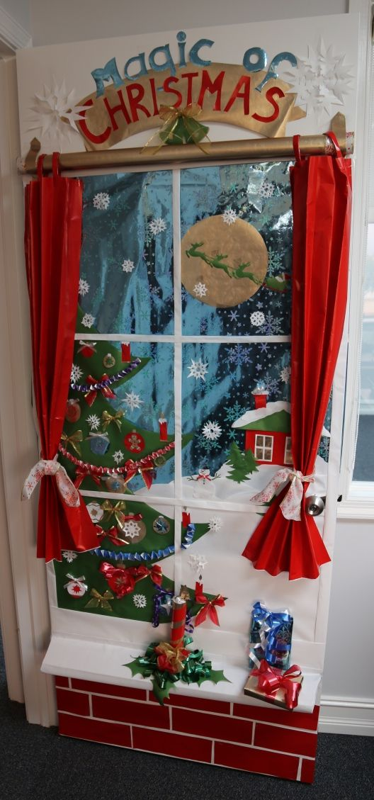 holiday door decoration contest 1st place accounting department