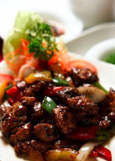 Sapi Lada Hitam Beef Black Pepper Merica Makanan Resep Sederhana
