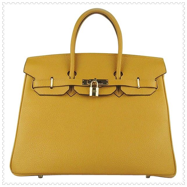 Hermes Birkin Bag 35 Goldenrod Gold